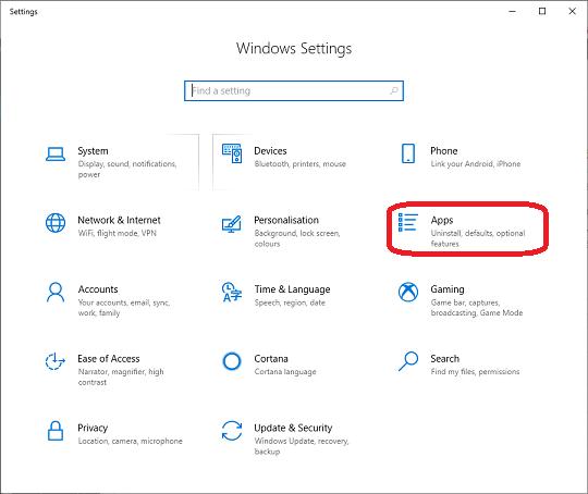Clik Settings Windows